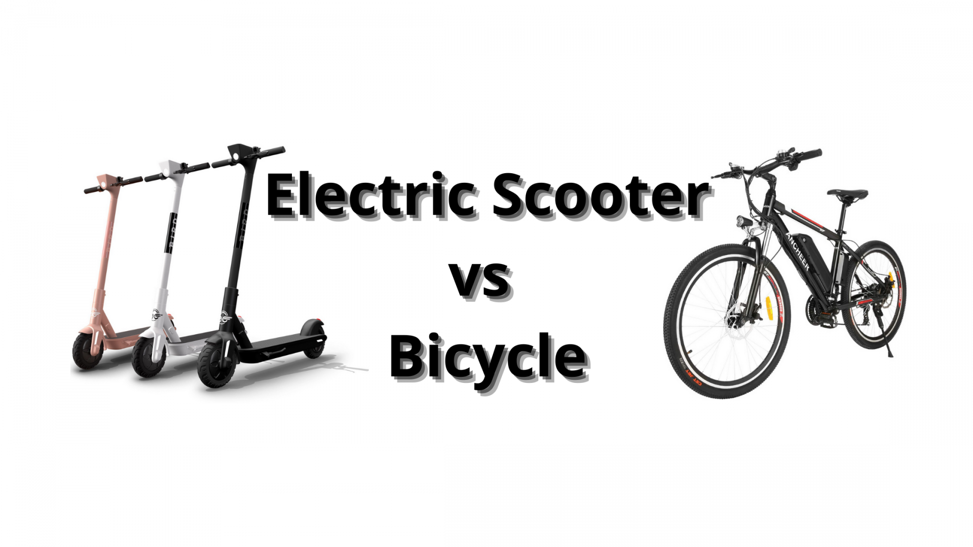 Electric Scooter vs Bicycle